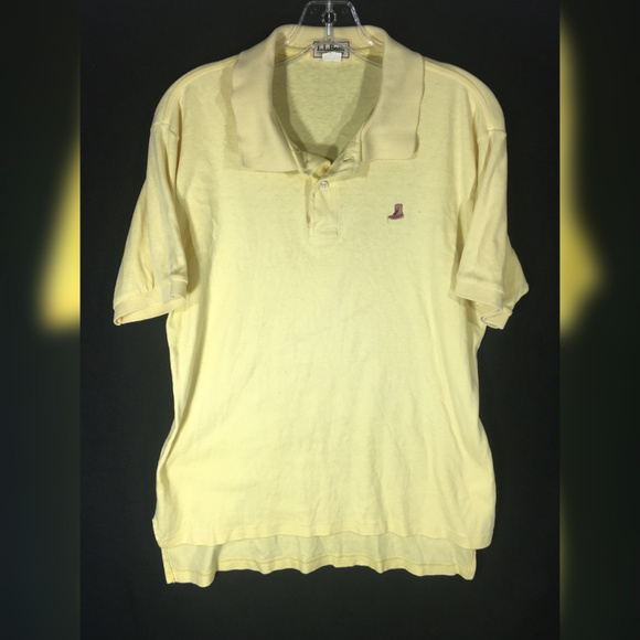 eeefd4f1 L.L. Bean Shirts | Ll Bean Mens Large Polo Duck Boot Logo Yellow ...